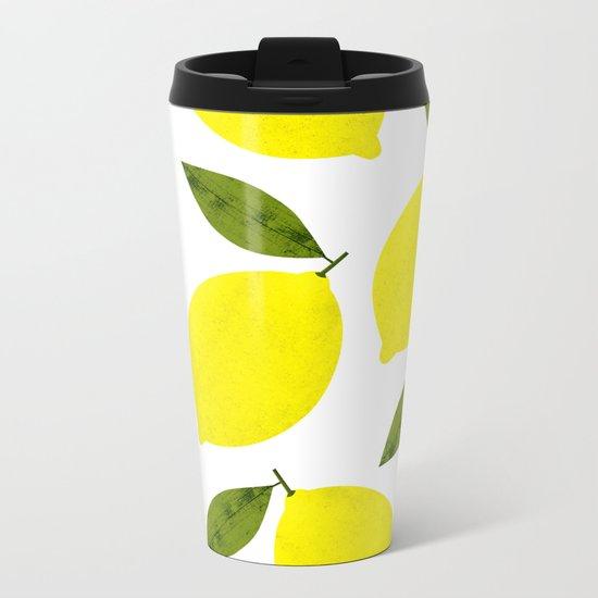 When Life Gives You Lemons Metal Travel Mug