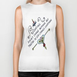 Worrying Doesn't Change Anything Biker Tank