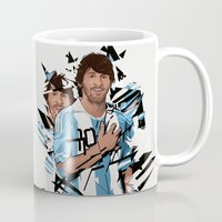 messi Mugs featuring Football Legends: Lionel Messi Argentina by Akyanyme