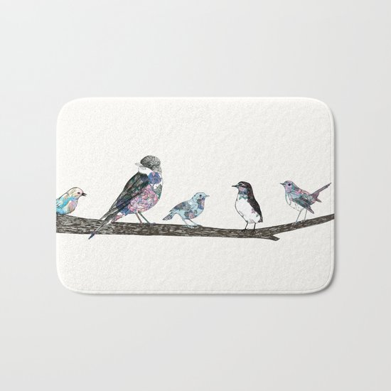 Birds.  Bath Mat