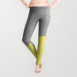 Concrete and Yellow Color Leggings