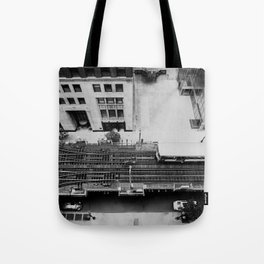 looking down on the tracks ... Tote Bag