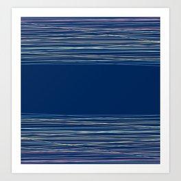 Blue thread , abstract Art Print