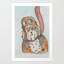 Biggles from Pastel and Friends Art Print