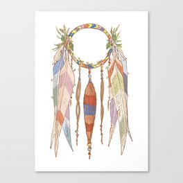 Bird wreath Canvas Print