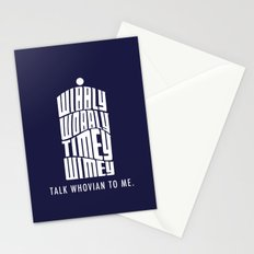 Talk Whovian to Me Stationery Cards
