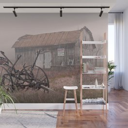 Barn for Sale in the Fog Wall Mural