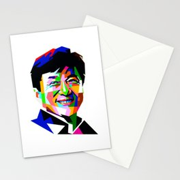 Jackie Chan Mosaic Smile Stationery Cards
