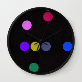 colourful pokka Wall Clock