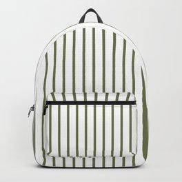 Wheelbarrow Grey Pinstripe on White Backpack