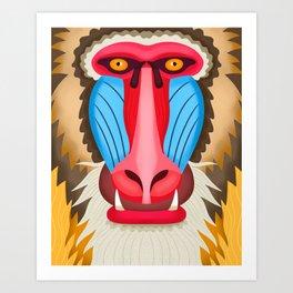 Baboon Head Art Print