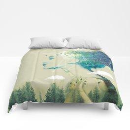 Geo Forest Comforters