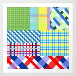 Crazy Plaid Spring Art Print
