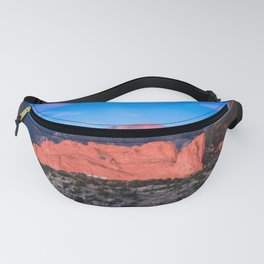 Pikes Peak - Sunrise Over Garden of the Gods in Colorado Springs Fanny Pack