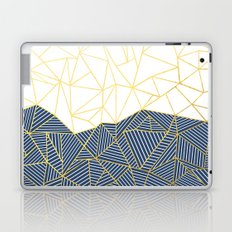 Ab Half and Half Navy Gold Laptop & iPad Skin