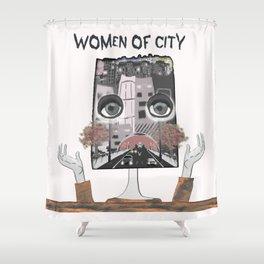 Women of city White Shower Curtain