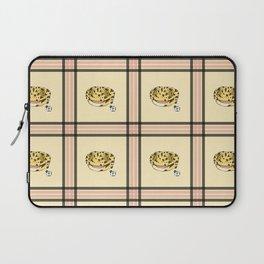 Leopard Gecko Plaid Laptop Sleeve
