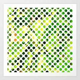 Fluid Dot (Green Version) Art Print