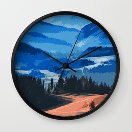 Mountains, Protectors of the Earth Wall Clock