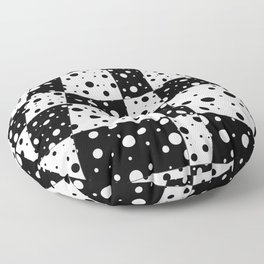 Holes In Black And White Floor Pillow