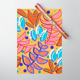 Whimsical Leaves Pattern Wrapping Paper