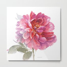 Obviously Pink Single Flower Metal Print