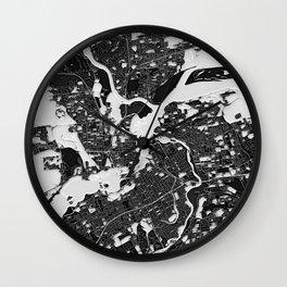 Ottawa – Abstract Map Wall Clock