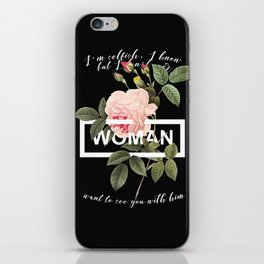 Harry Styles Woman graphic artwork iPhone Skin