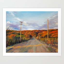 Central American Road Art Print