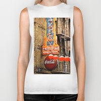 coca cola Biker Tanks featuring CHINESE COCA COLA SIGNBOARD by Voodoo Bench
