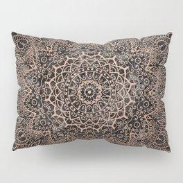 Mandala - rose gold and black marble 3 Pillow Sham