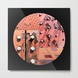 Rusty Circle (Black Background) Metal Print
