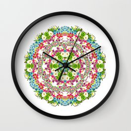 Flowers Cyrcle Wall Clock