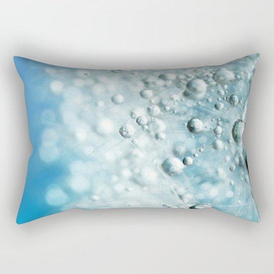 Powder Blue Drops Rectangular Pillow