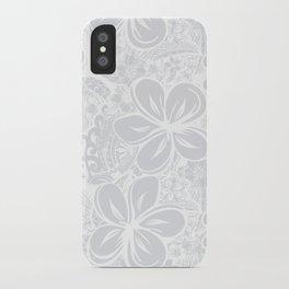 Maui Polynesian Silver Wedding iPhone Case