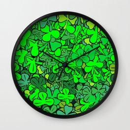 find quatrefoil Wall Clock