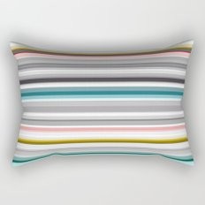 grey and colored stripes Rectangular Pillow
