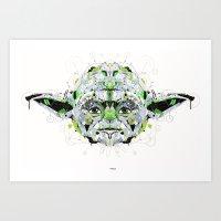 yoda Art Prints featuring yoda by yoaz