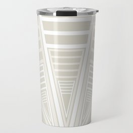 Tribal Vees White Cream Travel Mug