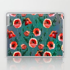 Dark Poppy Floral Laptop & iPad Skin