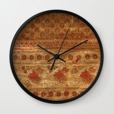 Indian textile Wall Clock