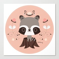 Spring Day Raccoon Canvas Print