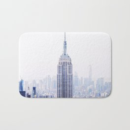 New York City - Manhattan Cityscape - Empire State Building Photograph Bath Mat