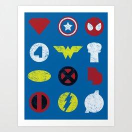 Super Simple Heroes Art Print