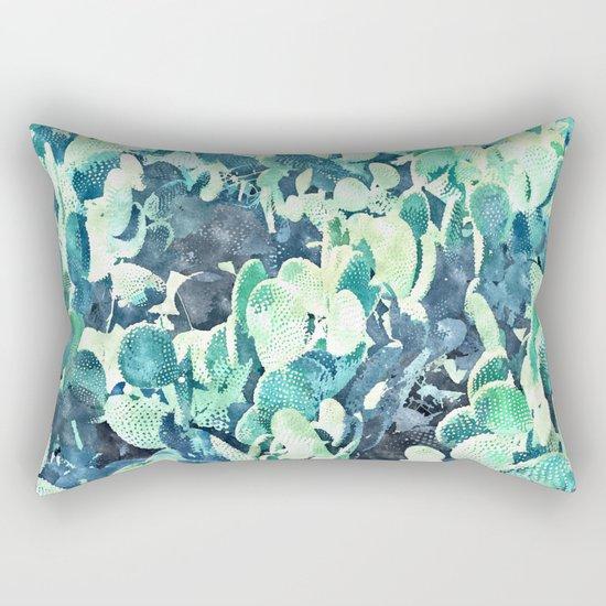 Watercolor Cactus     #society6 #decor #buyart Rectangular Pillow