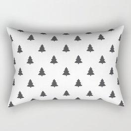 Hipster Exploring Wild Pine Trees Rectangular Pillow