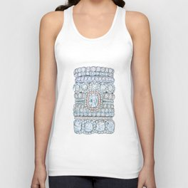 Pink diamonds rings Unisex Tank Top