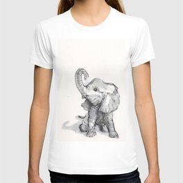 tiny elephant sitting in the corner T-shirt