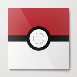 classic pokeball Metal Print