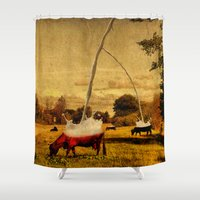 cows Shower Curtains featuring Cows by Gil Finkelstein
